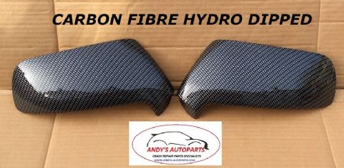 CITROEN C4 PICASSO 07 - 13 PAIR OF WING MIRROR COVERS CARBON FIBRE HYDRO DIPPED